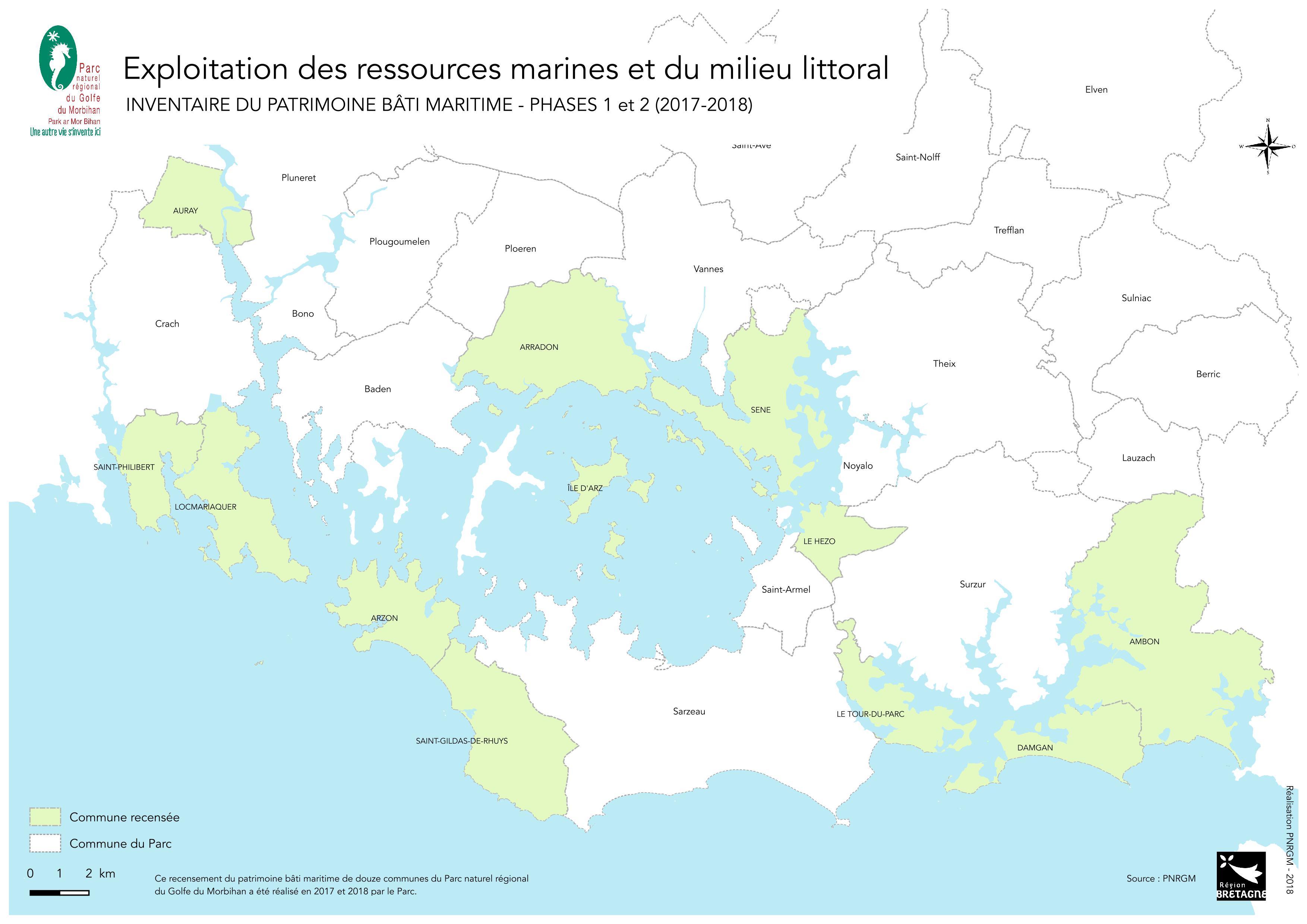 Carte Golfe Du Morbihan A Imprimer.Heritages Littoraux Inventaire Du Patrimoine Bati Maritime